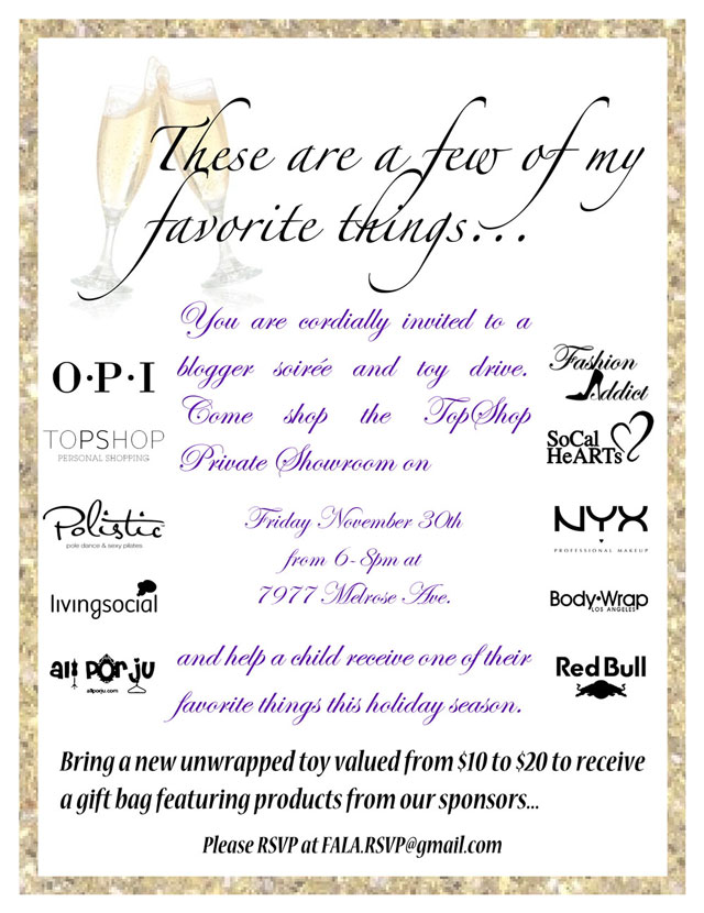 topshop soiree toy drive