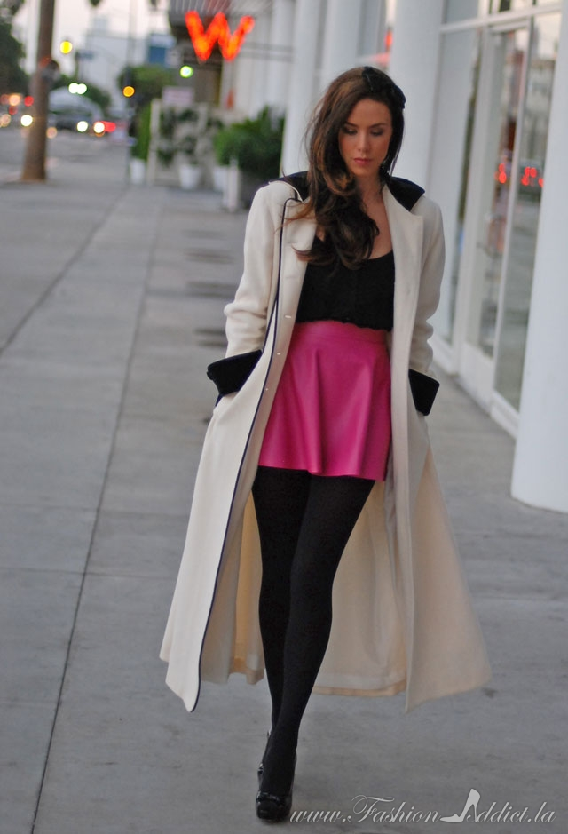Short Skirt And Long Jacket - Dress Ala