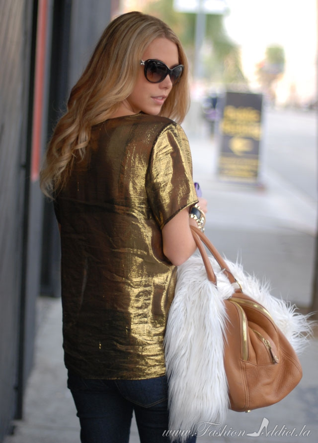Gold Lame Shirt