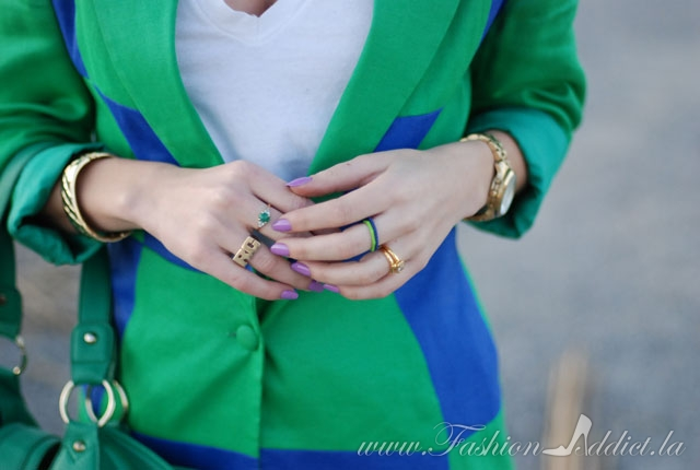 green and blue fashion