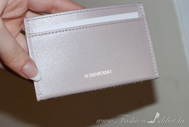 Swarovski leather pouch