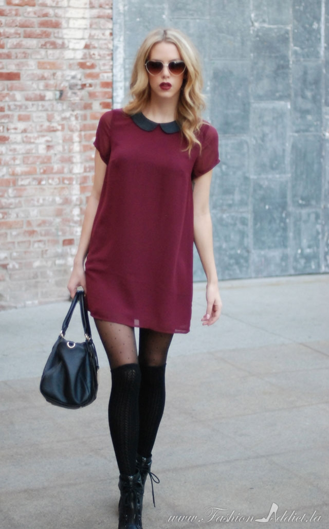 H&M maroon dress