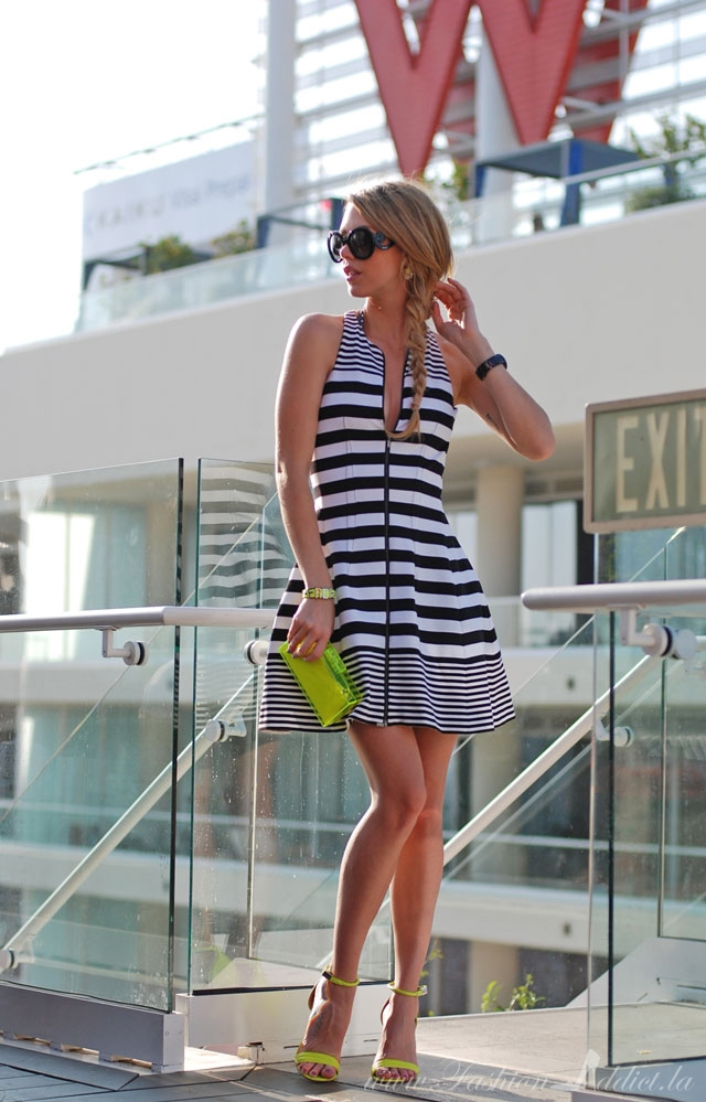 Zara Striped Tulip Dress Striped Zip up Dress Zara
