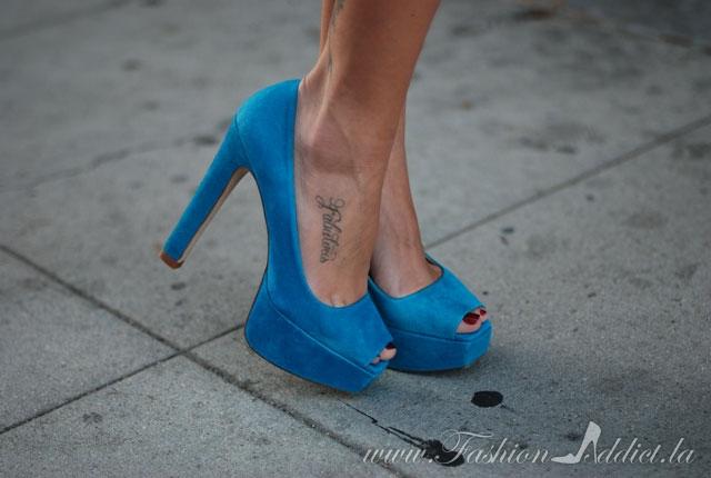 ZARA Turquoise- suede heels