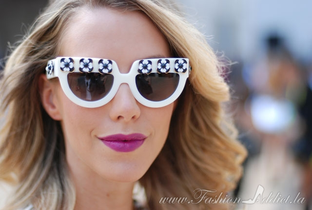 Prada white flower sunglasses