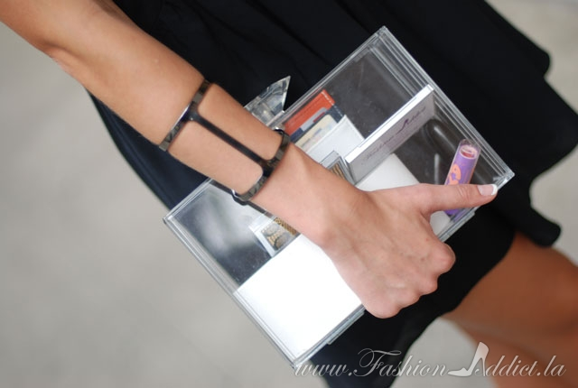 Clear lucite clutch