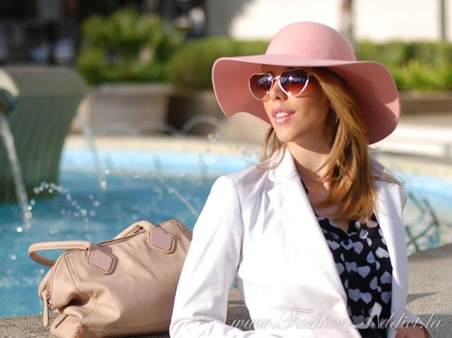 Pink felt hat