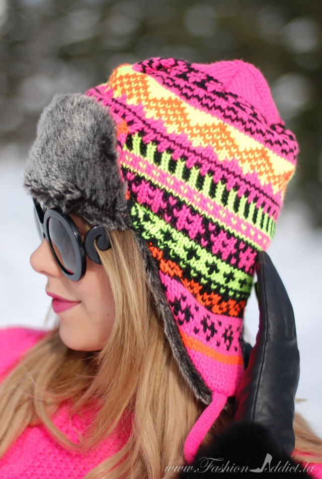 Winter neon hat