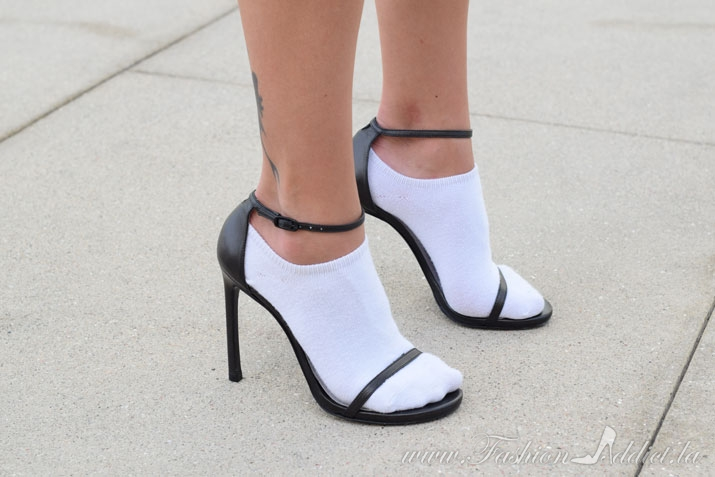 stuart weitzman sandals and socks