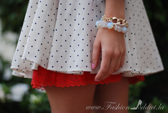 Polka dots and Poppy Red